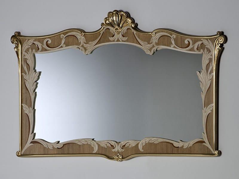 Rectangular wall-mounted mirror LANTE - Rozzoni Mobili d'Arte