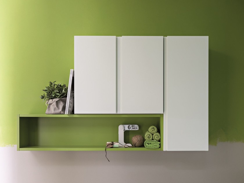 Sectional wall cabinet with doors LAPIS | Wall cabinet - Birex