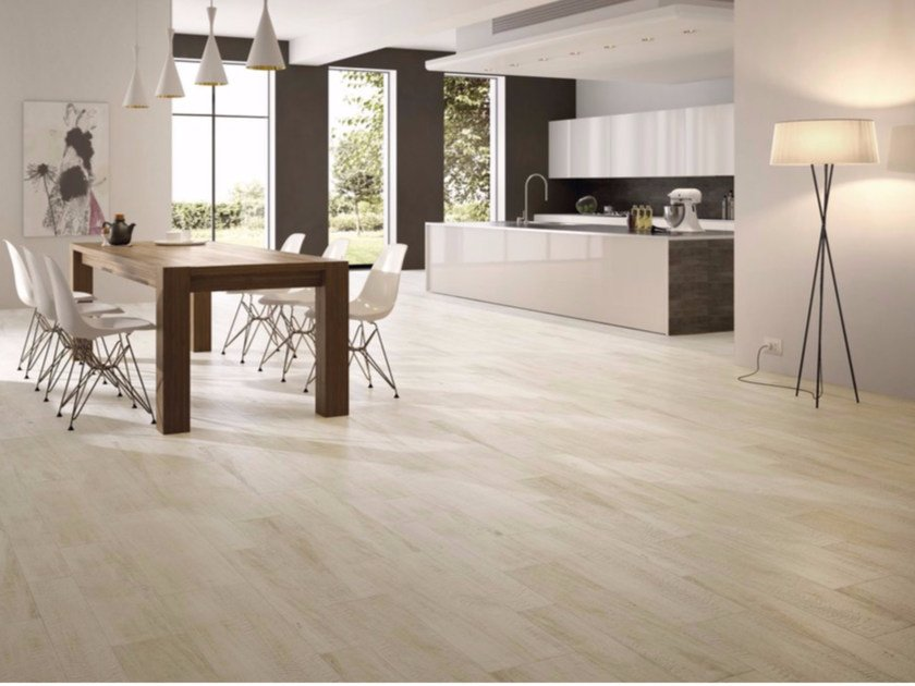 Porcelain stoneware flooring with wood effect LARICE BIANCO - GranitiFiandre