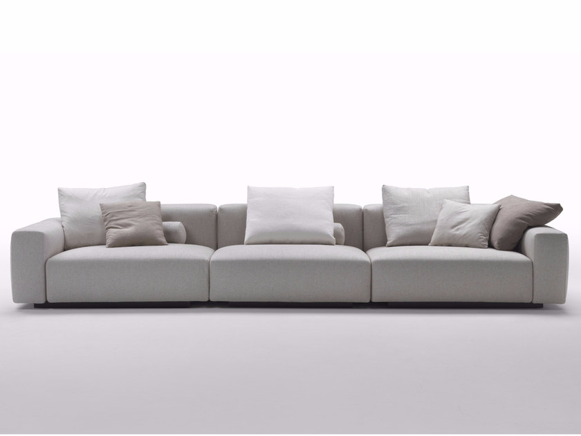 4 seater fabric sofa with removable cover LARIO 2016 | 4 seater sofa - FLEXFORM