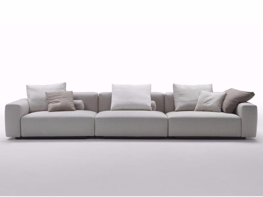 4 seater fabric sofa with removable cover LARIO 2016 | 4 seater sofa - FLEXFORM