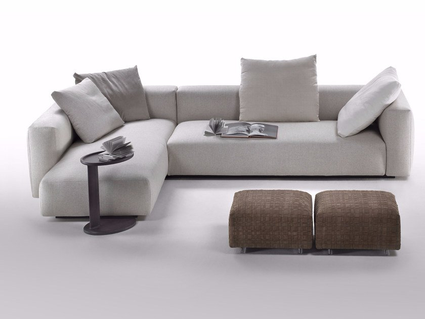 Sectional sofa with removable cover with chaise longue LARIO 2016 | Sofa with chaise longue - FLEXFORM