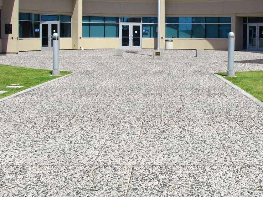 Reconstructed stone outdoor floor tiles LAVATI by RECORD - BAGATTINI