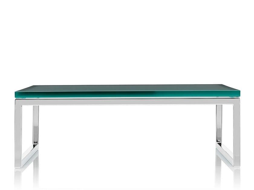 Rectangular glass coffee table LAYLA | Glass coffee table - Boss Design