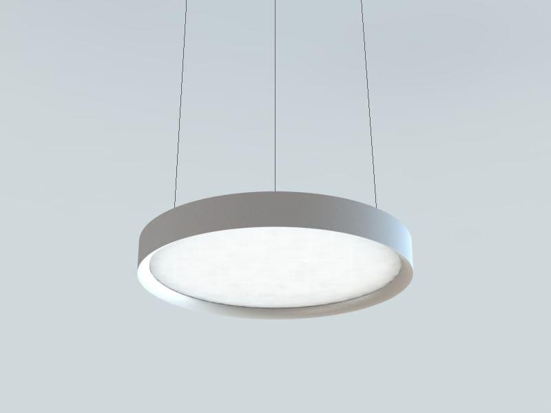 LED extruded aluminium pendant lamp LBS | Metal pendant lamp by LUCIFERO'S