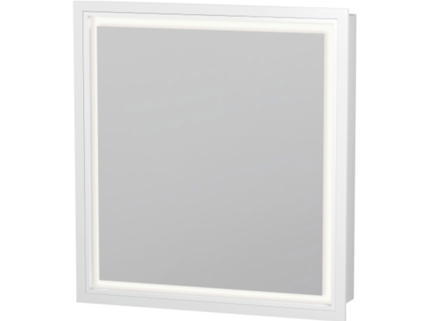 Wall-mounted mirror with integrated lighting LC 7650 | Bathroom mirror - DURAVIT