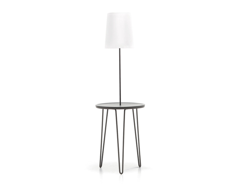 Powder coated steel floor lamp / bedside table LC47 - Letti&Co.