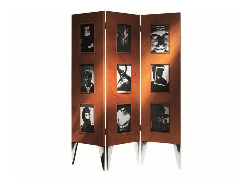 Wooden screen LE PARAVENT DE L'AUTRE - Driade