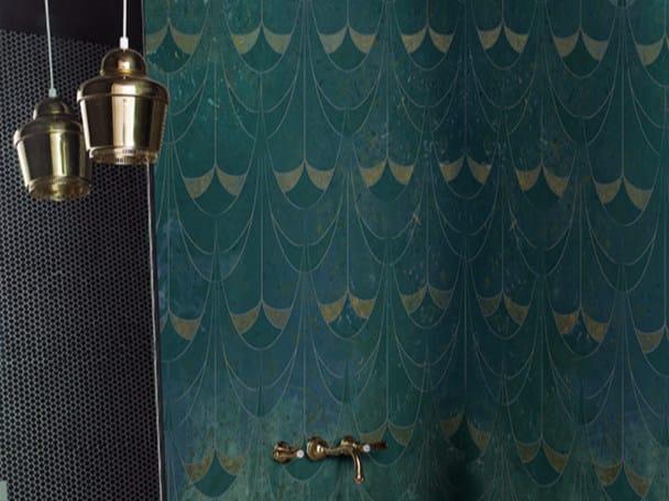 Motif waterproof glass-fibre wallpaper LE VITRAIL - Wall&decò