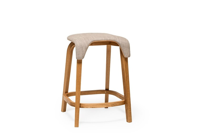 Low stool with footrest LEAF | Low stool - TON