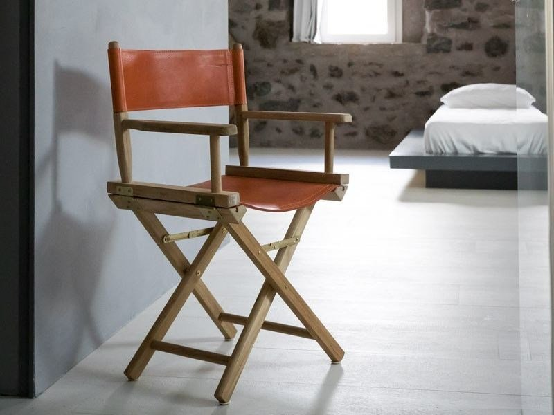 Folding leather chair GINGER | Leather chair by Unopiù