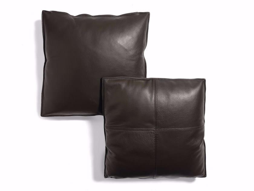 Solid-color leather sofa cushion Leather cushion by CTS SALOTTI