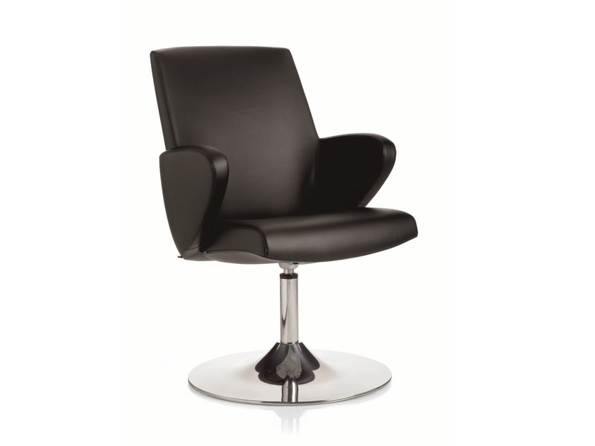 Leather executive chair with armrests FORMAT | Leather executive chair - Emmegi