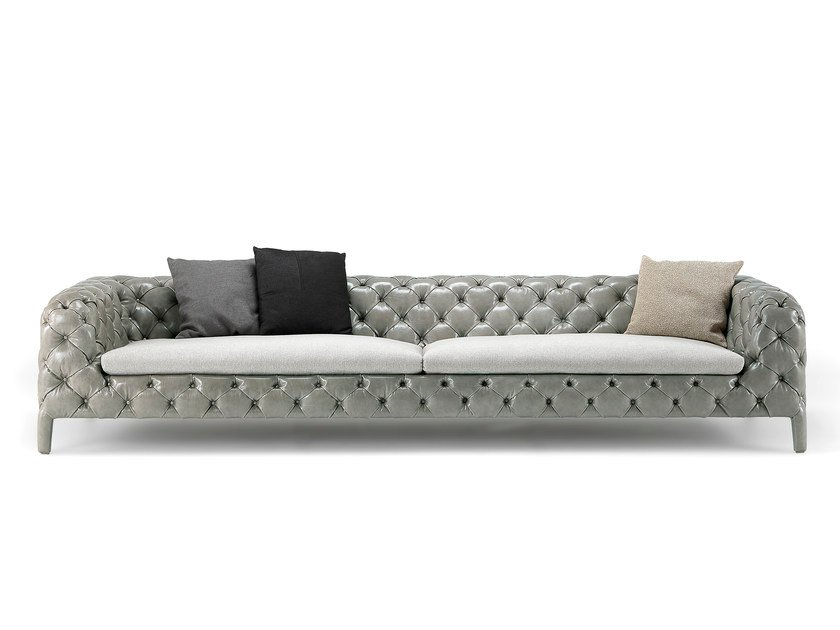 Tufted leather sofa WINDSOR | Leather sofa - Arketipo