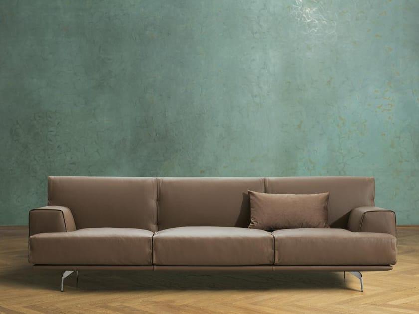 3 seater leather sofa SIXTY | Leather sofa by Papadatos