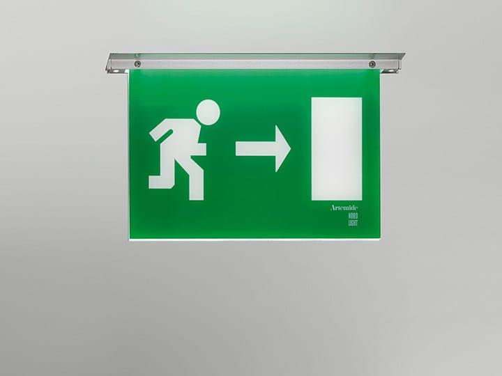 LED built-in polycarbonate emergency light LEB | Built-in emergency light - Artemide Italia