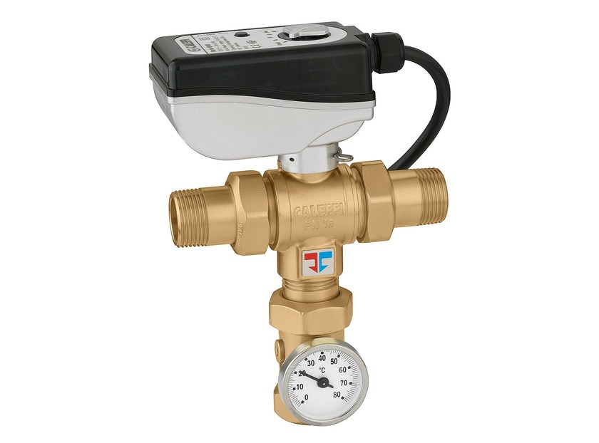 Electronic mixing valve with male threaded connections LEGIOMIX® 6000 Male threaded connections - CALEFFI