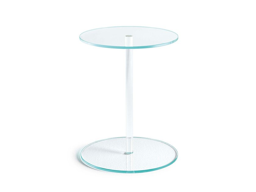 Glass coffee table / bedside table LENS - T.D. Tonelli Design