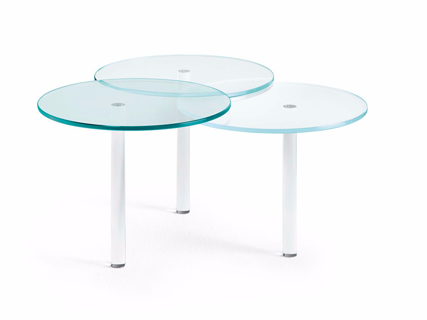 Glass coffee table / bedside table LENSES by Tonelli Design