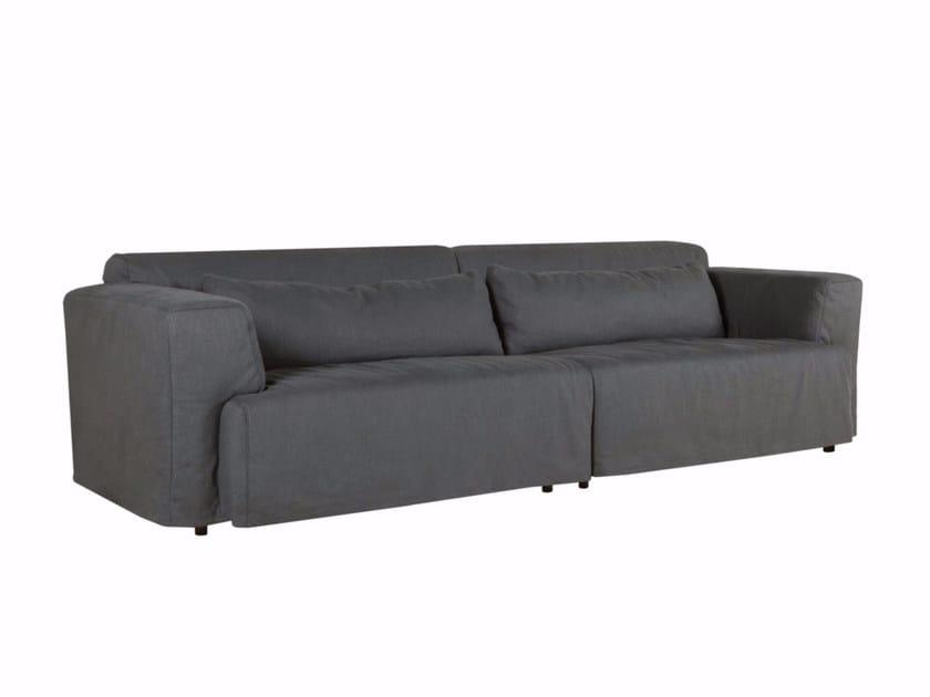 Upholstered 4 seater fabric sofa LEO | 4 seater sofa - SITS