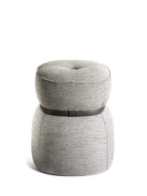 Upholstered fabric stool LEPLI | Fabric stool - Poltrona Frau