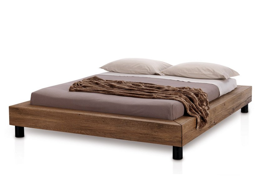 Oak double bed LETTO | Bed - Oliver B.
