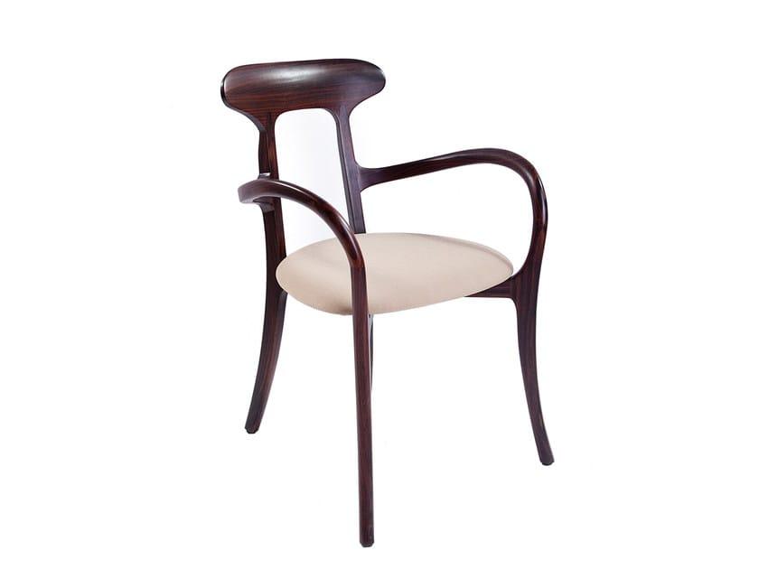 Teak chair with armrests LI - Compagnie Française de l'Orient et de la Chine