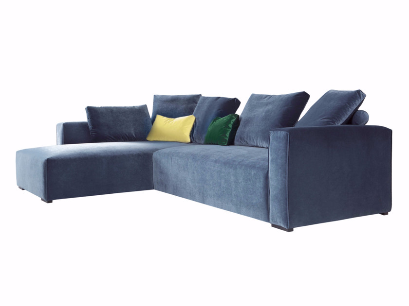 Sectional 3 seater fabric sofa with chaise longue LIAM | 3 seater sofa - SITS