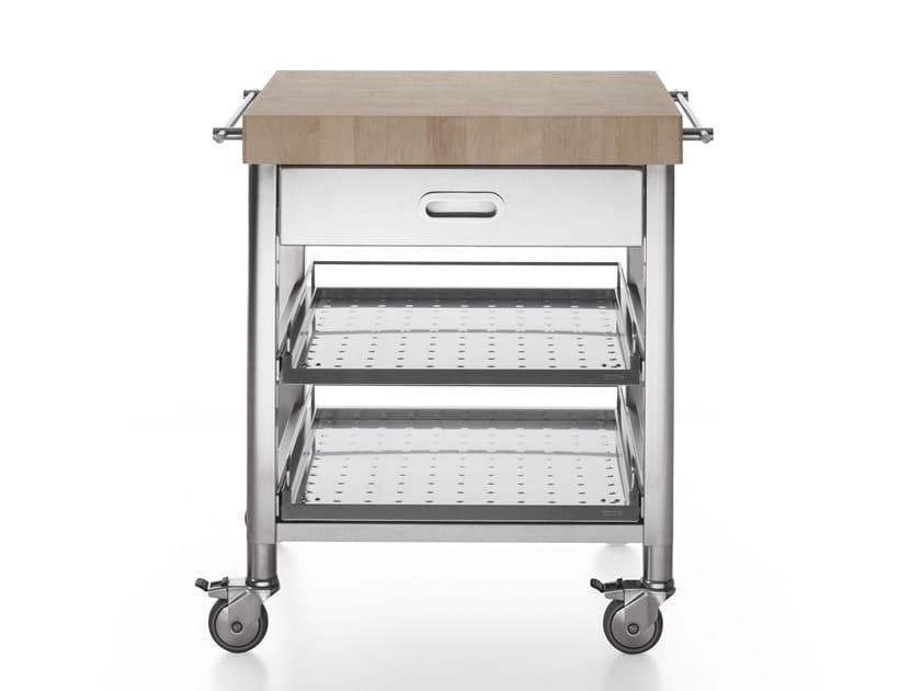 Carrello da cucina in acciaio inox con cassetti liberi in - Carrello cucina acciaio ...