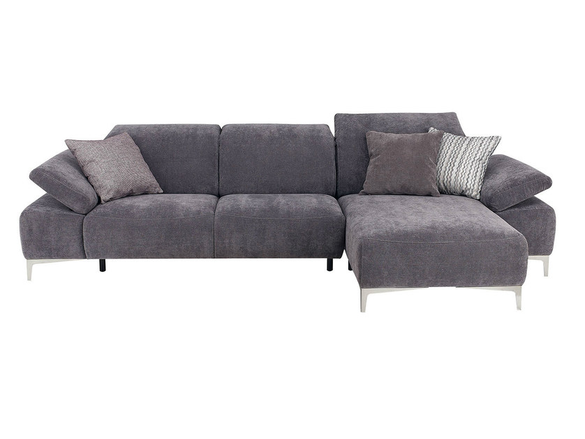 Upholstered fabric sofa with chaise longue LIBERTA | Sofa with chaise longue - GAUTIER FRANCE