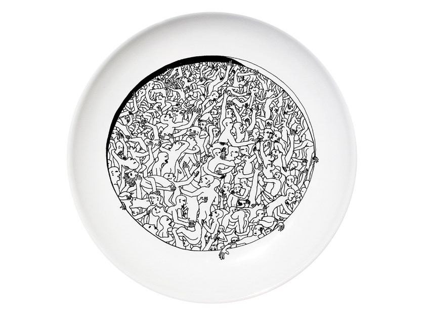 Ceramic dinner plate LIBERTINE - Kiasmo
