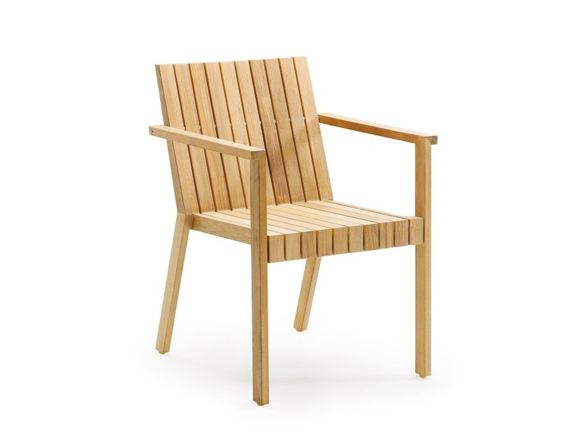 Teak garden chair with armrests LIBERTY | Chair with armrests - solpuri
