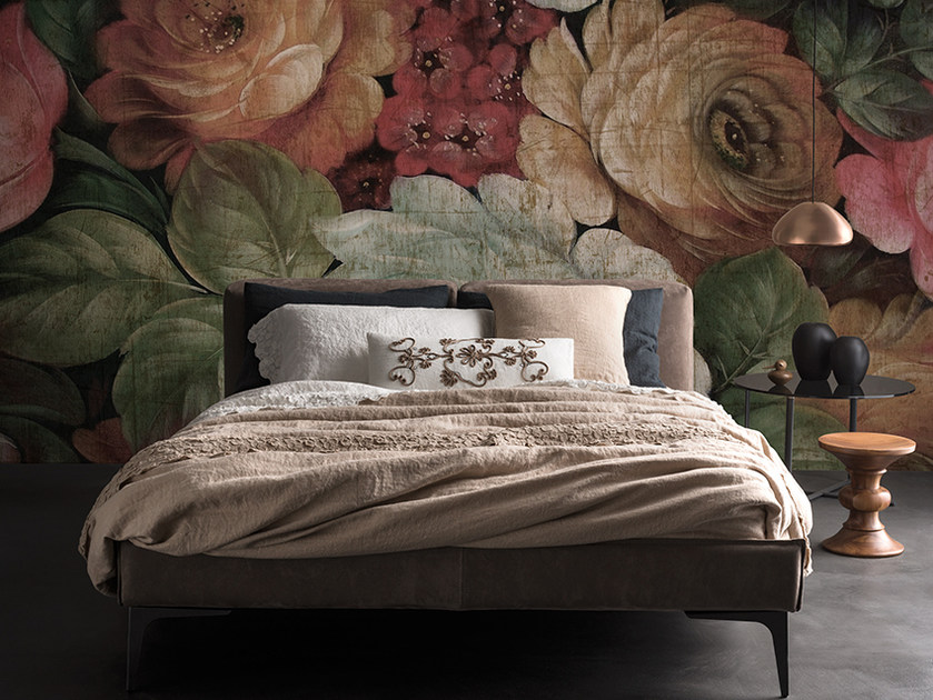 Panoramic wallpaper with floral pattern LIBERTY - Inkiostro Bianco