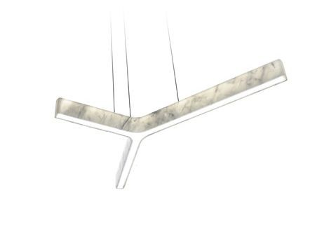 LED Carrara marble pendant lamp LIGHT BEAM Y by Inarchi