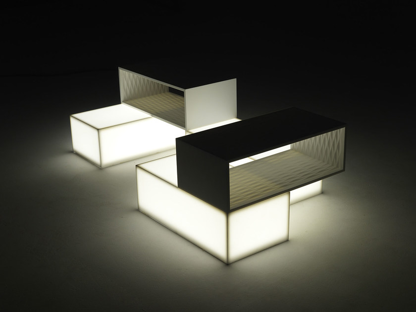 Coffee table with light LIGHT STEP - Paolo Castelli
