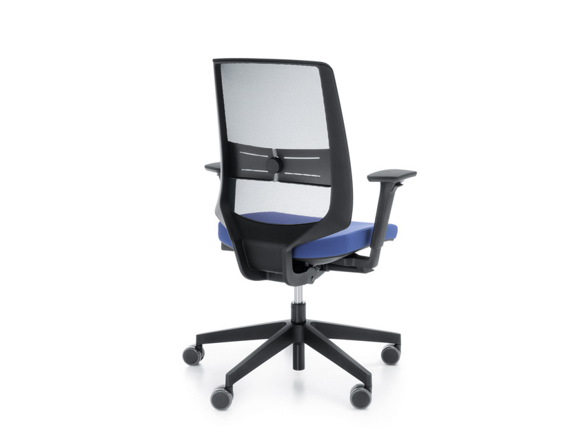 Task chair with 5-Spoke base with armrests LIGHTUP 250STL - profim