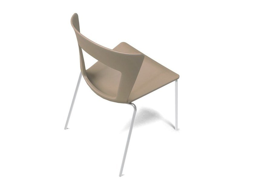 Stackable open back chair LILIA | Chair - RIFLESSI