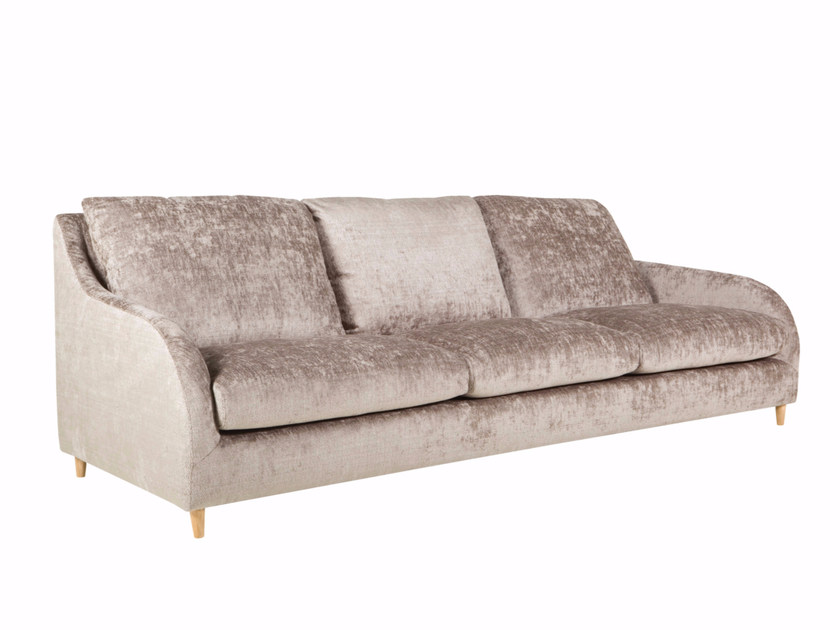 Upholstered 4 seater velvet sofa LILY | 4 seater sofa - SITS