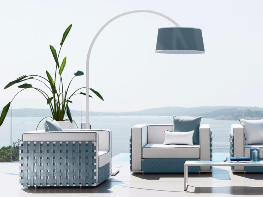 Aluminium arc lamp LILY FABRIC | Arc lamp - Talenti