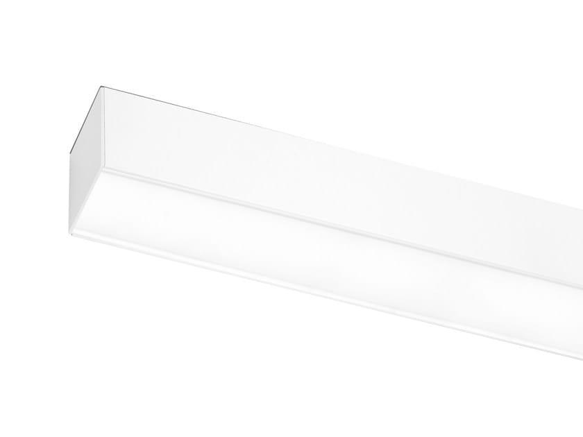 Fluorescent extruded aluminium ceiling lamp LINE 70P - ONOK Lighting