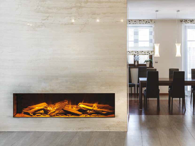Electric built-in fireplace LINEA1000 by BRITISH FIRES