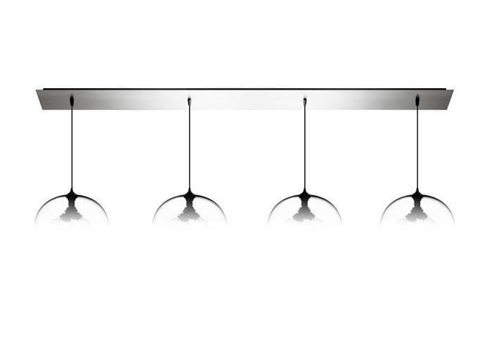 Lampada a sospensione a luce diretta fatta a mano in vetro soffiato LINEAR-4 LARGE - Niche Modern
