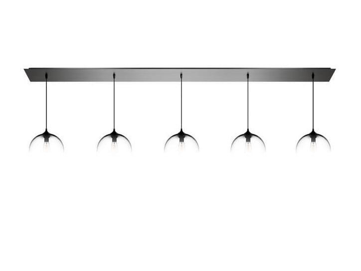 Lampada a sospensione a luce diretta fatta a mano in vetro soffiato LINEAR-5 - Niche Modern