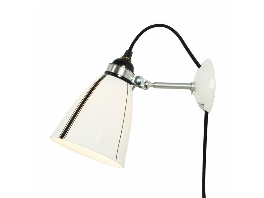 Porcelain wall lamp with fixed arm with dimmer LINEAR | Porcelain wall lamp - Original BTC