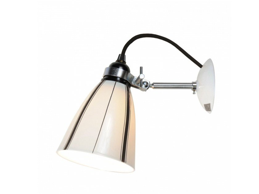 Porcelain wall lamp with fixed arm with dimmer LINEAR MEDIUM | Wall lamp by Original BTC