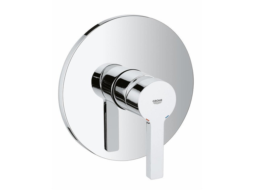 Single handle shower mixer with plate LINEARE | 1 hole shower mixer by Grohe