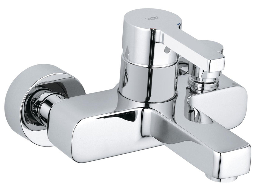 Wall-mounted single handle bathtub mixer LINEARE | 2 hole bathtub mixer - Grohe