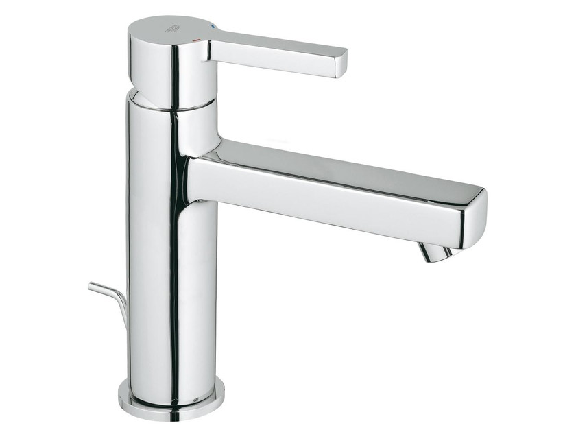 Countertop single handle washbasin mixer with pop up waste LINEARE SIZE M | Washbasin mixer by Grohe