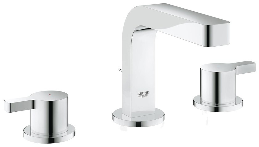 3 hole countertop washbasin tap with pop up waste LINEARE SIZE S | Washbasin tap by Grohe