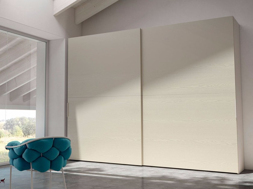 Contemporary style wardrobe with sliding doors LINEARE | Wardrobe with sliding doors by Caccaro